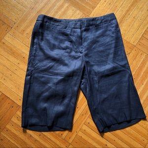 INC • Linen/silk Bermuda Short Capri